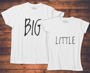 Komplet T-shirt dla par - Big Little